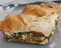 Butternut squash and feta pie
