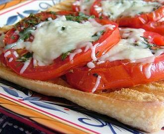 Italian Bruschetta With Herbed Mozzarella & Garlic Tomatoes