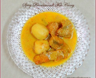Bhetki (Spicy Barramundi Fish Curry With  Baby Potatoes ) Macher Kalia !!!!!!