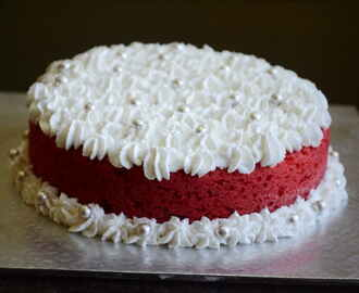 How To Bake  Eggless Red Velvet Cake In Pressure Cooker / Without Oven – Video Recipe