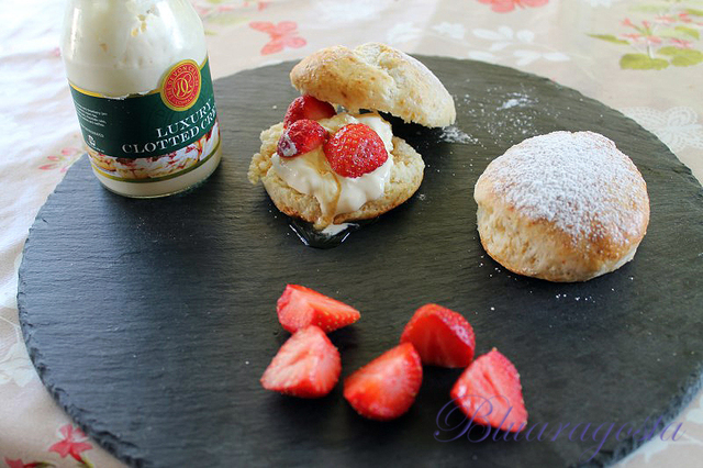Scones e clotted cream