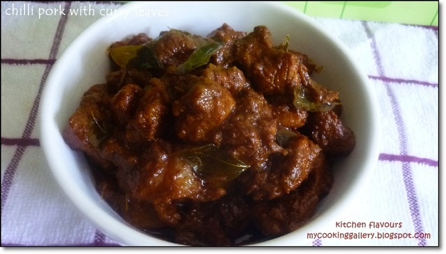 Chili Pork with Curry Leaves