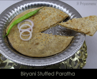 Biryani Stuffed Paratha / Diet Friendly Recipe - 71 / #100dietrecipes