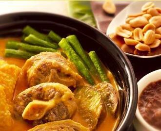 KARI-KARE (Meat and Vegetable Stew in Peanut Sauce)