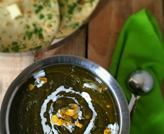 Makai Palak | Spinach Corn Curry | Side dish for Indian Flat Breads | Quick and Healthy Recipe