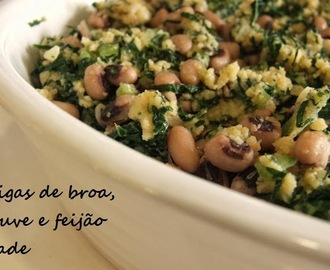 Migas de broa, couve e feijão frade / Crumbled corn bread, kale and black-eyed peas