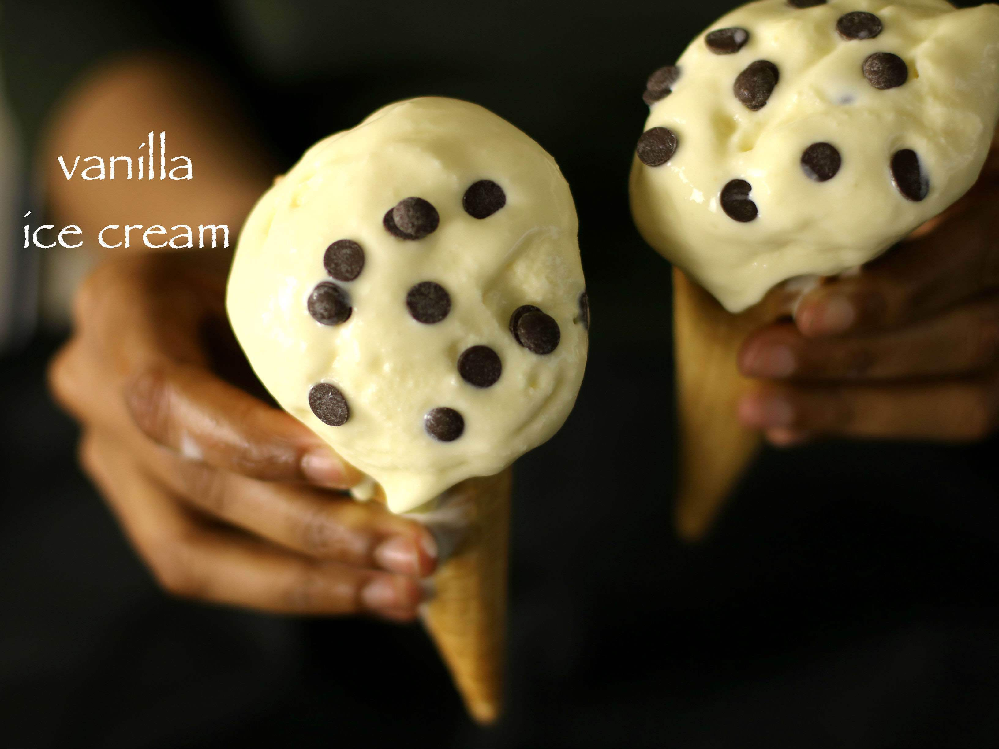 vanilla ice cream recipe | homemade ice cream recipe