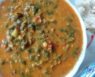 Spinach dal curry recipe | Cheera parippu curry