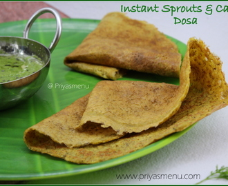 Instant Sprouts & Carrot Dosa / Diet Friendly Recipe - 75 / #100dietrecipes