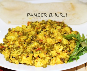 PANEER RECIPES - PANEER BHURJI RECIPE  / SCRAMBLED COTTAGE CHEESE