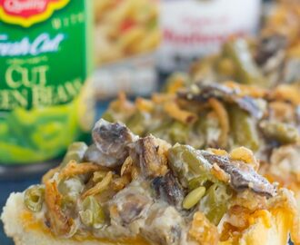 Green Bean Casserole Cheesy Bread
