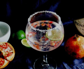 Gin tónico com romã e lima para brindar a 2015 / Gin and tonic with pomegranate and lime to toast to 2015