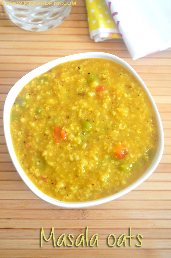 Masala Oats Recipe - How to prepare Masala Oats at home