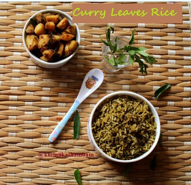 Curry Leaves Rice / Karuveppilai Satham