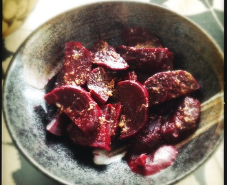 Beetroot Salad with Honey Ginger Dressing