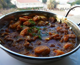 SHRIMP RECIPE - KADAI PRAWN  WITH BABY POTATO