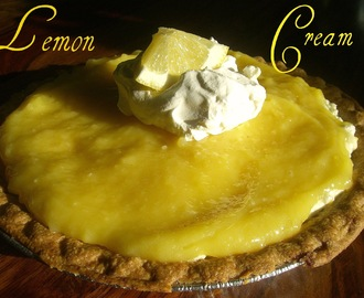 ~Lemon Cream Pie with Crunchy Lemon Meringues~