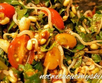 Sprout Salad with Bok Choy, Roquette, Cherry Tomato, Tamarind and Peanuts