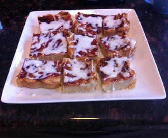 Peanut Butter and Jelly Shortbread Bars