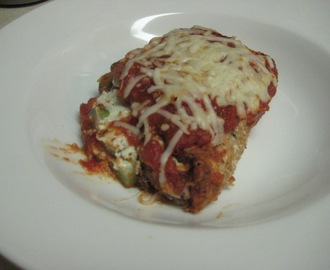 Eggplant Rollatini with Zucchini Filling