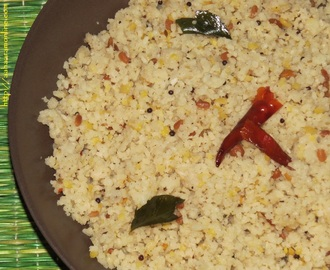 Arisi Upma – Spicy Rice Rava Upma from Tamil Nadu