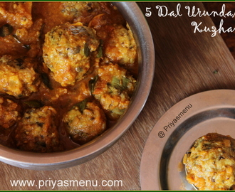 5 Dal Urundai Kuzhambu / Diet Friendly Recipe - 80 / #100dietrecipes