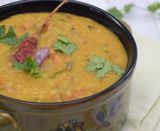 Red Lentil / Masoor Dal Curry with Shallots
