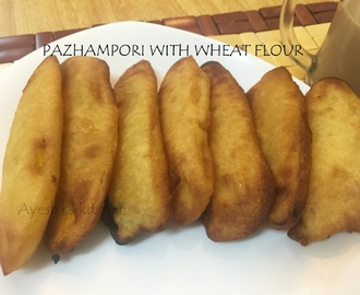 BANANA FRITTERS - PAZHAM PORI WITH WHEAT FLOUR / NO EGG RECIPE