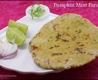 Pumpkin Mint Paratha / Diet Friendly Recipe - 82 / #100dietrecipes