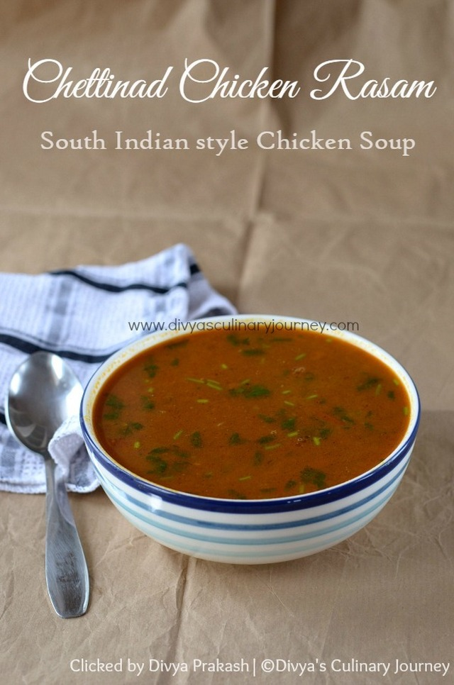 Chettinad Chicken Rasam | Chettinad Kozhi Rasam