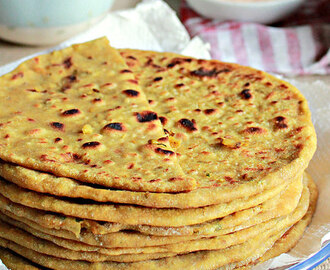 Whole Moong Parathas, Lentils Stuffed Flat Breads
