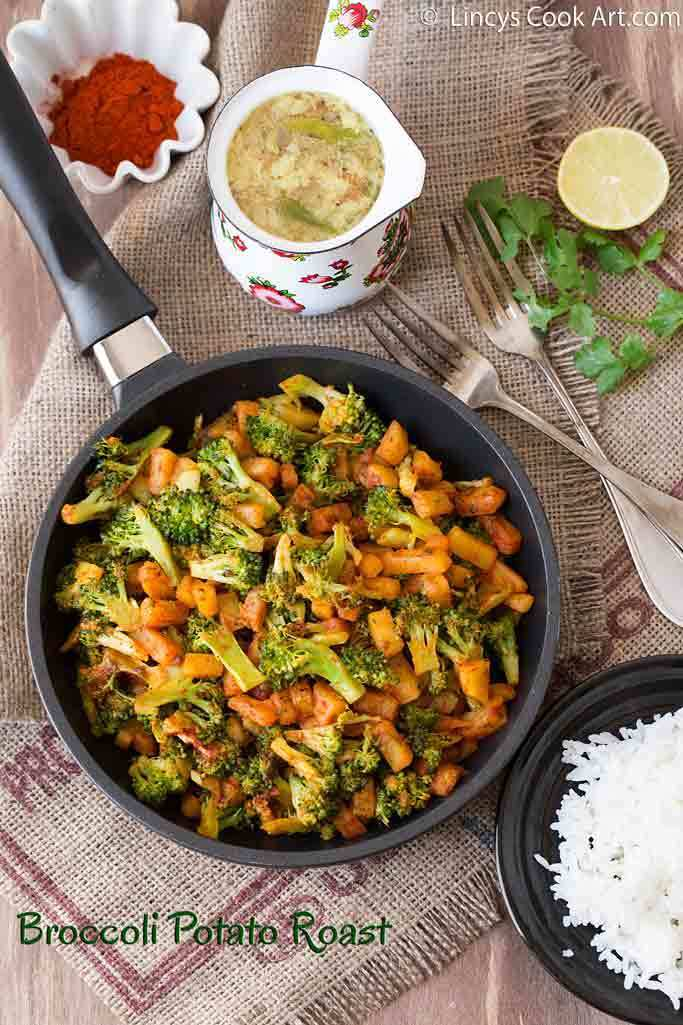 Broccoli Potato Roast (South Indian Style)