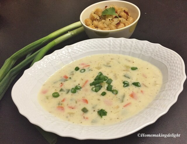 Creamy White Vegetable Soup Recipe – Easy Homemade Soup