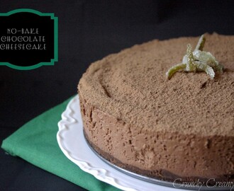 No-Bake Chocolate Cheesecake - a Guest Post on A Culinary Journey with Chef Dennis