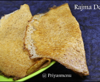 Rajma Dosa / Diet Friendly Recipe - 84 / #100dietrecipes