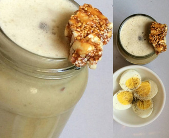 Banana Oats Peanut butter smoothie