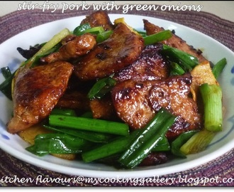 Stir-Fry Pork with Green Onions