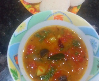 Tiffin sambar recipe, how to make hotel style tiffin sambar recipe