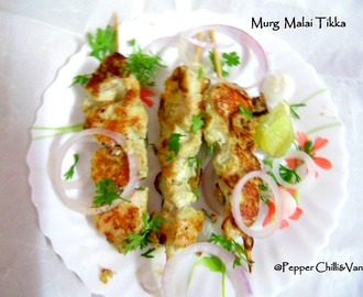 Murg /Chicken malai Tikka Recipe/Murg Malai Kabab Recipe