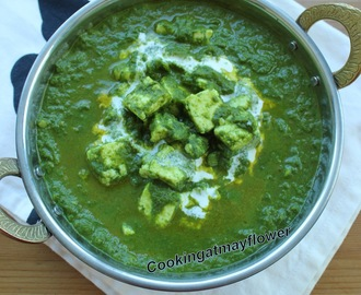 Palak paneer/Cottage cheese in spinach gravy