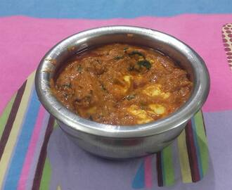 100 th post :Paneer masala curry