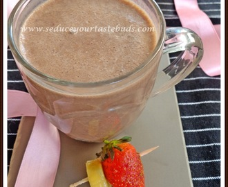 Chocolate Banana and Strawberry Shake