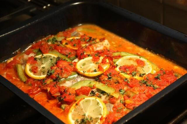 Portuguese-Style Baked Fish