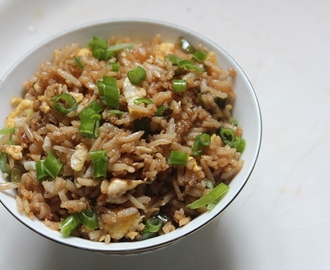 Healthy Brown Rice Egg Fried Rice Recipe