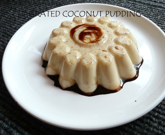 EASY DESSERT RECIPE - SIMPLE COCONUT PUDDING