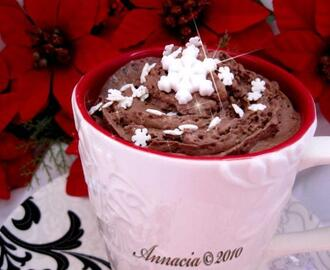 Peppermint Hot Chocolate With Whipped Cream
