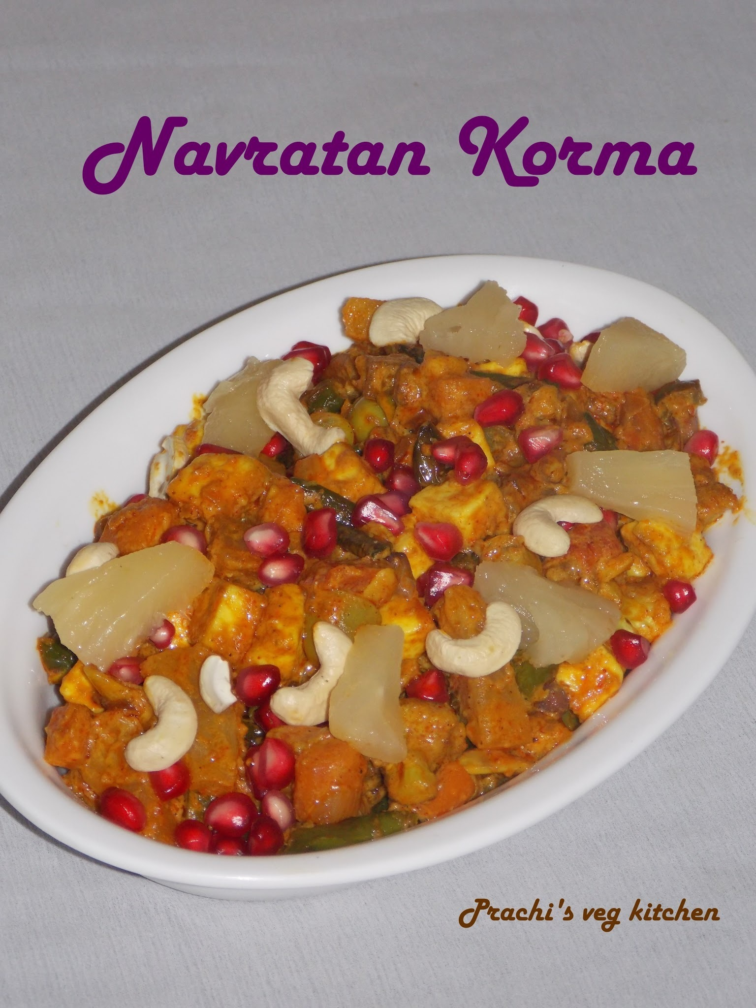 Natratna Korma Recipe | Indian recipe