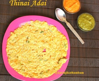 Foxtail Millet and Lentils Adai / Thinai Paruppu Adai | Millet Recipes