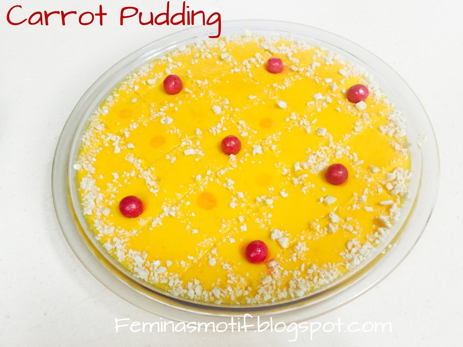 CARROT PUDDING/CARROT-NUTS PUDDING