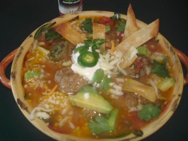 Mexican Tortilla Meatball Soup